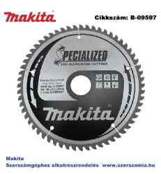 Körfűrészlap alu 190/30 mm Z60 T2 MAKITA