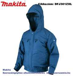 MAKITA 10,8-18V CXT, LXT Li-Ion hűthető kapucnis kabát csiszoláshoz Z méret: XL plusz BL1830