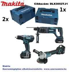MAKITA 18V LXT Li-Ion készlet DDF456ZJ plusz DGA504ZJ plusz DHR241ZJ plusz 3x5,0Ah