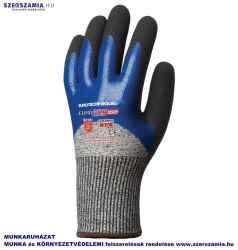 EUROCUT 5 vágásbiztos kesztyű, 3/4 hát kék Nitril plusz CSB réteg, méret: 7, 1 pár