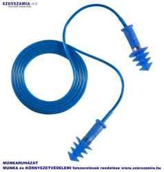 EARLINE Lamellás kék zsinóros TPR füldugó SNR 30DB, 150db / doboz