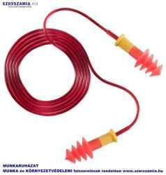 EARLINE Piros zsinóros,lamellás füldugó SNR 30DB, 150db / doboz