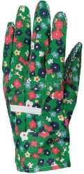 Kertészkesztyű, varrott mintás pamut, pettyes tenyér, női, méret: 7, 12pár / csomag