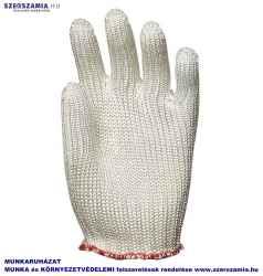 Kötött vastag fehér abralon/Nylon kesztyű, vágás/kopásálló, méret: 9, KIFUTÓ termék, Helyettesítő: 4425/4485 10pár / csomag