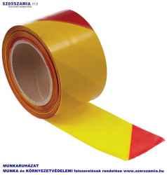 Jelzőszalag sárga/piros, méret: 7cm / 200m, 1 darab