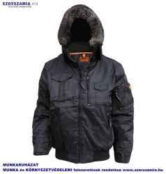 AQUILON fekete télikabát, kivehető bélés, kapucni, méret: M, KIFUTÓ termék 1 darab
