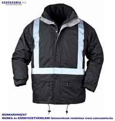 BODYGUARD Fekete 4/1 télikabát, fényvisszaverő csíkkal, méret: XXXL, 1 darab