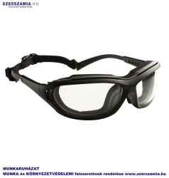 MADLUX Fekete/szürke páramentes víztiszta szemüveg, 1 darab