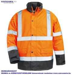 ROADWAY Narancs/kék PES kabát, méret: M, 1 darab