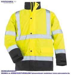 ROADWAY Sárga/kék PES kabát, méret: M, 1 darab