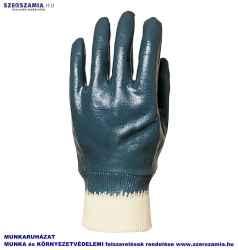 EUROLITE Csuklóig mártott kék Nitril kesztyű, ACTIFRESH, méret: 8, 10pár / csomag