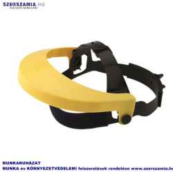 Homlokvédős arcvédő keret, sárga