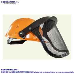 TIP100 narancssárga sisak Panorama rácsos arcvédővel