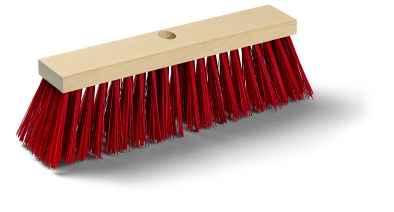 Utcai seprű, sima piros Elaston szál, fa test Mopster G 400mm