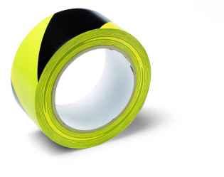 Veszélyt jelző ragasztószalag, PVC, sárga/fekete Warning Tape 50mmx33m