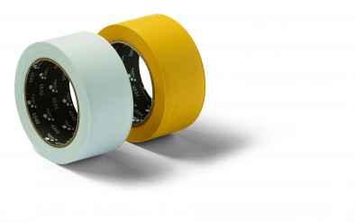 Maszkolószalag, PVC, bordázott, fehér PVC Mask Q 30mmx33m white