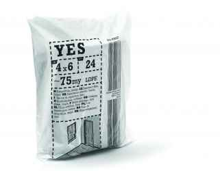 Takarófólia, LDPE, fekete YES S75 4x6m black