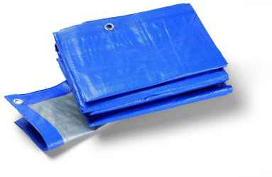 Védőponyva, kék, 180g/m2, fémgyűrűkkel Terra S180 1.5x6m