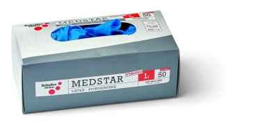 Egyszer használatos extra vastag latex kesztyű, púdermentes 50 Medstar Latex strong PF XL/10
