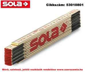 Fa mérővessző 2,4 m H 2.4/12 natúr szín, EK-osztály 3 SOLA