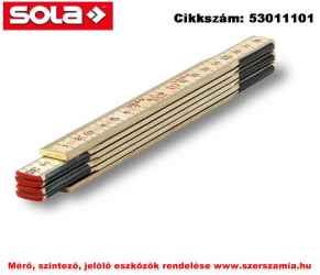 Fa mérővessző 1 m H 1/6 natúr szín, EK-osztály 3 SOLA