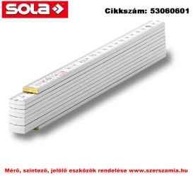 Fa mérővessző 2 m HB 2/10W fehér, EK-osztály 3 SOLA