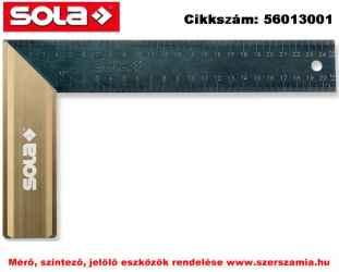 Asztalos derékszög Alu fogantyú SRG 300 kékített rugóacél,300x145mm SOLA