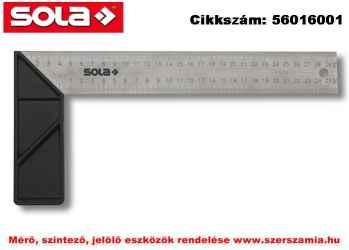 Asztalos derékszög ABS, üvegszállal erősített fog. SRK 300VS30 rozsdamentes, 300x145mm SOLA