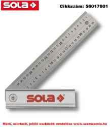 Állítható derékszög Quattro rozsdamentes, 250x170mm SOLA