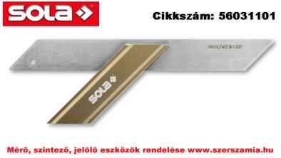 Szögvonalzó GWB 300 rozsdamentes, 300x110mm SOLA