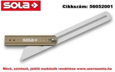 Szögmásoló skálázott VSTG 300 Hossz 300mm SOLA