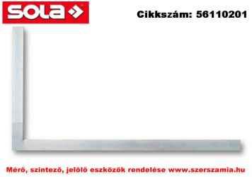 Lakatos derékszög SW 100 horganyzott, 100x70mm SOLA