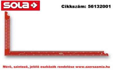 Ács derékszög ZWCA 1000 festett piros, jelölő furatokkal,1000x380mm SOLA