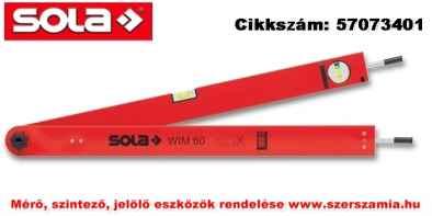 Szögmérő eszköz 60cm WIM 60 T táskával SOLA