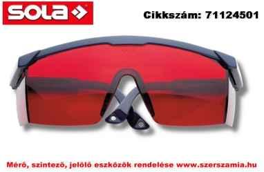 Lézerszemüveg piros LB RED SOLA
