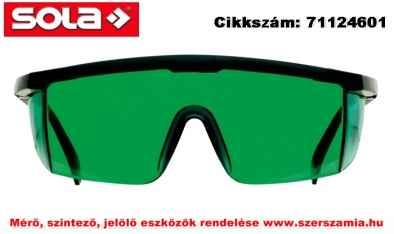 Lézerszemüveg zöld LB-G SOLA