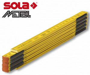 Fa mérővessző 2 m PS 2/10G fehér, EK-osztály 3 SOLA