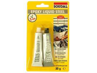 Epoxy Liquid Steel V1 kontakt speciális ragasztó ragasztó 2x15ml 30ml