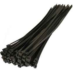 Kábelkötegelő fekete 12.7 x 580mm 100db/csomag