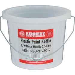 Festővödör műanyag fedél nélkül, fém füllel 2,5l