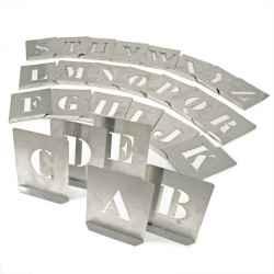 Stencil betűk (26 db-os klt,) 60mm