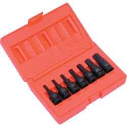 Hatszögű erősített feltűzhető csavarbehajtó készlet 3/8col meghajtóval (7 db-os)