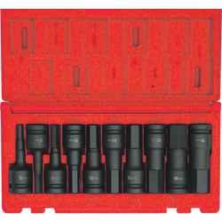 Hatszögű erősített feltűzhető csavarbehajtó készlet 1/2col meghajtóval (10 db-os)