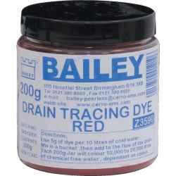 Szennyvíz színjelölő festék piros 200g