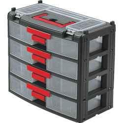 Alkatrésztároló szekrény 4 fiókos 390 x 200 x 340mm