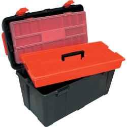 Szerszámdoboz szállító/szortírozó tálcával 480 x 240 x 260mm TTO480