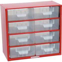 Tárolószekrény apró alkatrészekhez, 8-fiókos 282,0mmx306,0mmx155,0mm SCM008