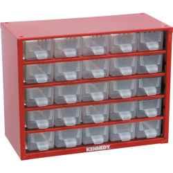 Tárolószekrény apró alkatrészekhez, 25-fiókos 238,0mmx306,0mmx155,0mm SCS025