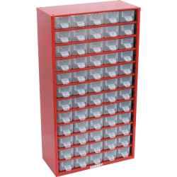 Tárolószekrény apró alkatrészekhez, 60-fiókos 551,0mmx306,0mmx155,0mm SCS060