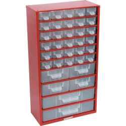 Tárolószekrény apró alkatrészekhez, 36-fiókos 551,0mmx306,0mmx155,0mm SCC036